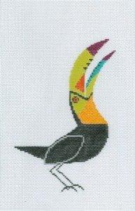 Charley Harper needlepoint Tucan ornament