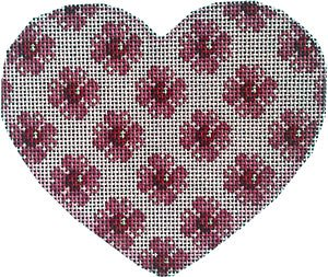Heart Ornament - Floral repeat