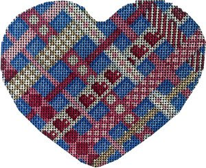 Heart Ornament -Woven Ribbons