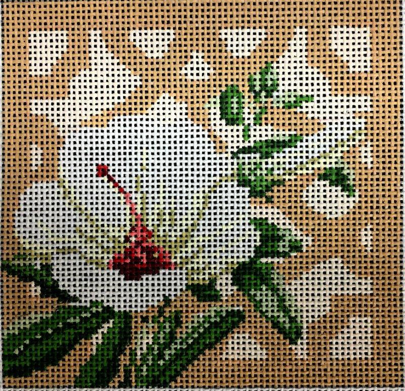 Hibiscus Needlepoint Mini