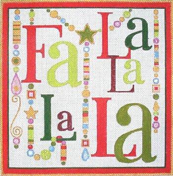 Fa La La Christmas with Baubles   -  in stock