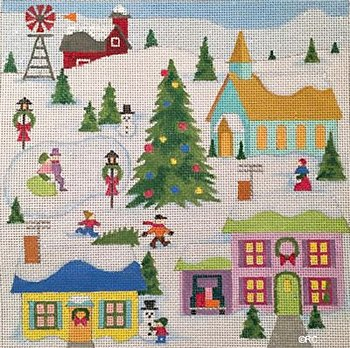 Christmas Village by Raymond Crawford- in stock