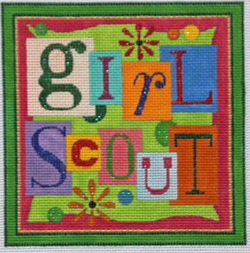 Girl Scout needlepoint