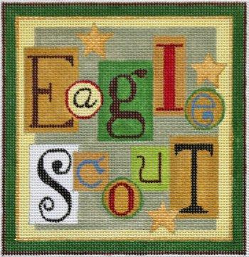 Eagle Scout needlepoint