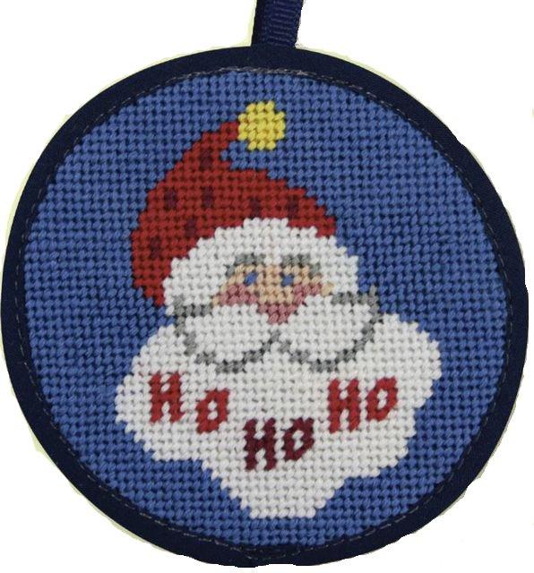 Needlepoint Christmas Ornament Kit Ho Ho Santa