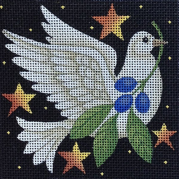 Maggie Needlepoint Holiday Dove