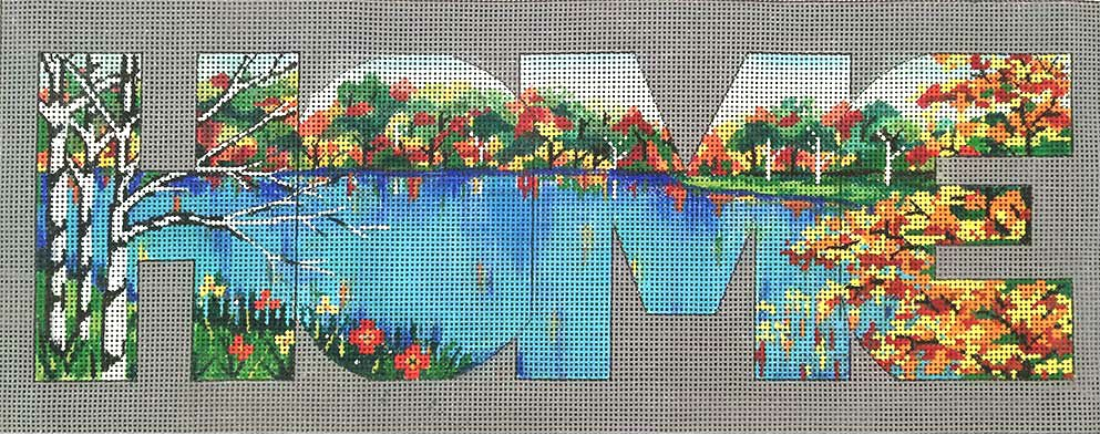 Home Lake View Needlepoint