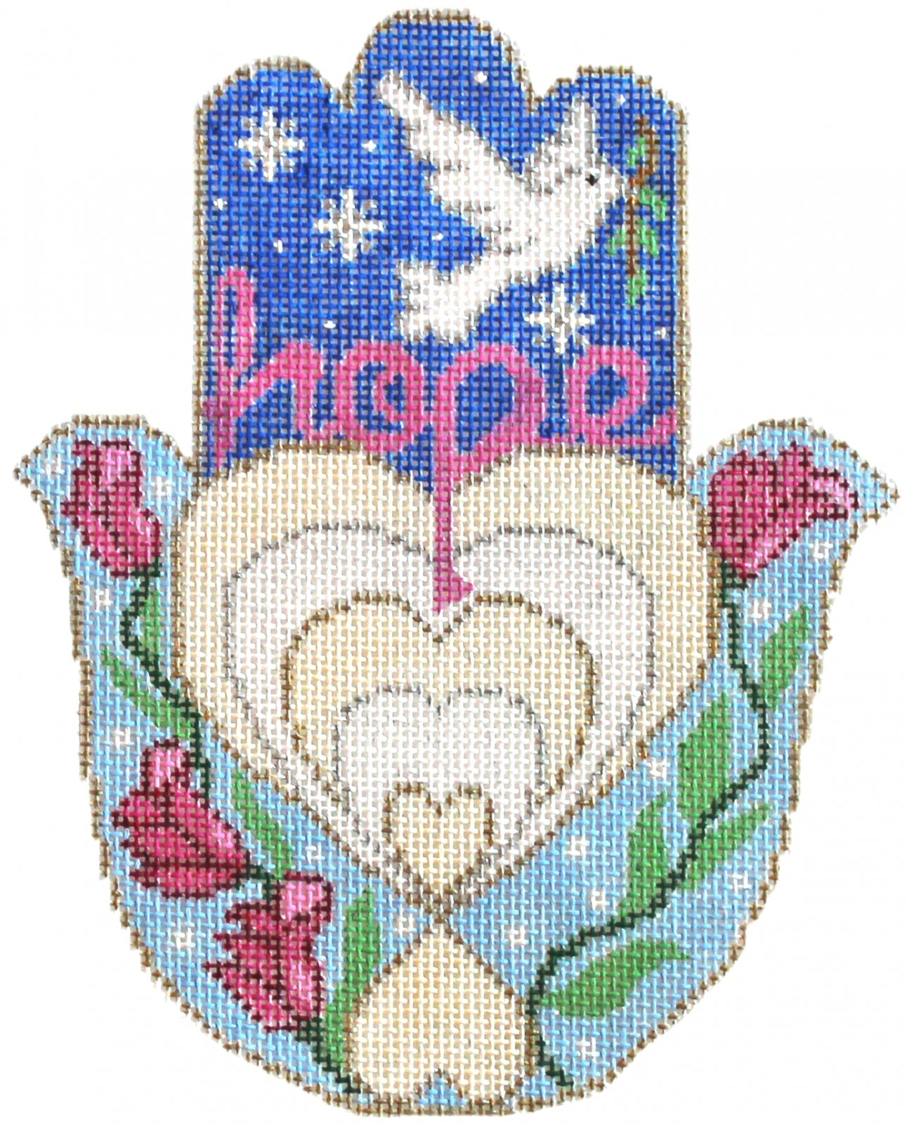 Hamsa Needlepoint Hope