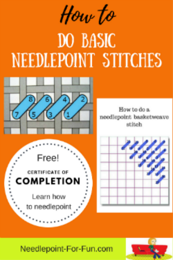 basic needlepoint stitches how to