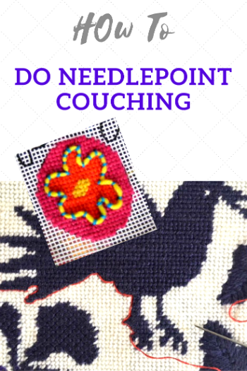 how to do needlepoint couching