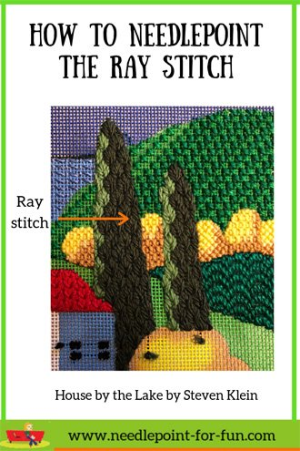 How to do the ray stitch in needlepoint