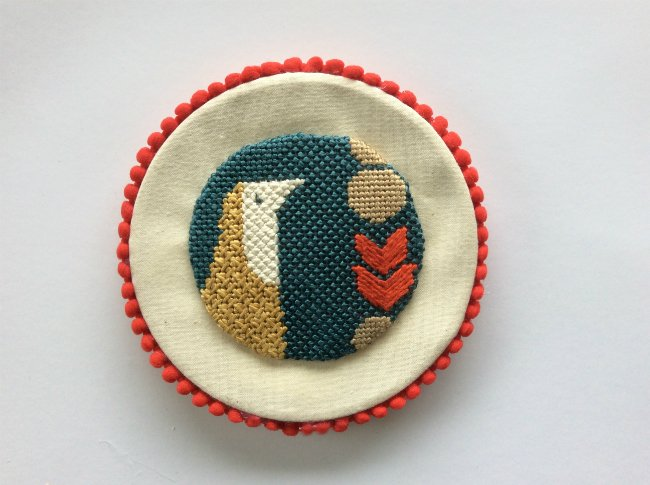 how to finish a needlepoint ornament as a picture