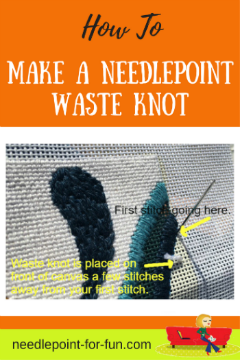 how to make a needlepoint waste knot