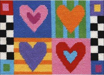 hearts needlepoint kit