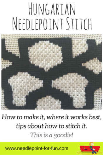 hungarian needlepoint stitch how to