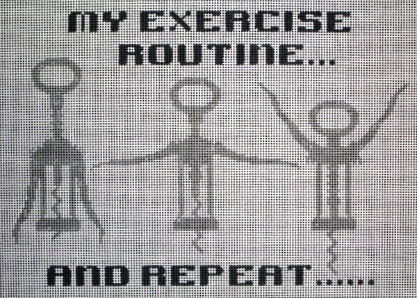 JP Needlepoint<BR>Exercise Routine