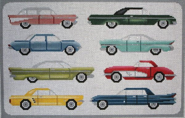 JP Needlepoint<BR>Cars From the 60s.