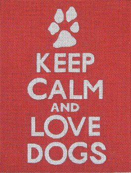 love dogs simple needlepoint canvas