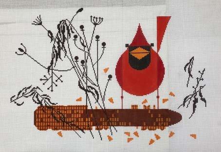 Cardinal on the Corn