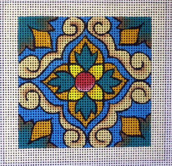 Lisbon Tile Needlepoint