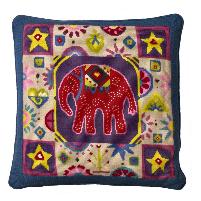 Indian Elephant Needlepoint Kit