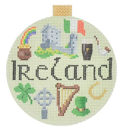 Ireland Needlepoint Ornament