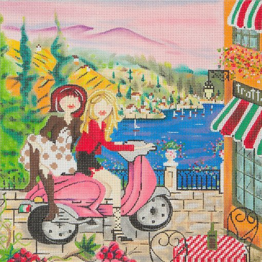 Girls in Italy Needlepoint