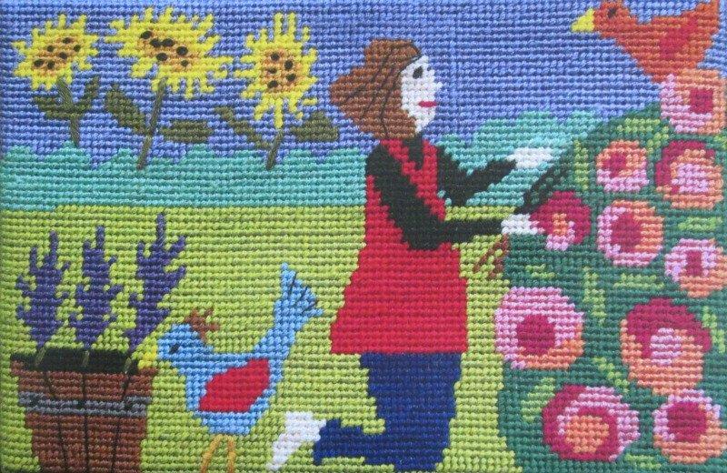 Jennifer Pudney Needlepoint I'd Rather Be Gardening
