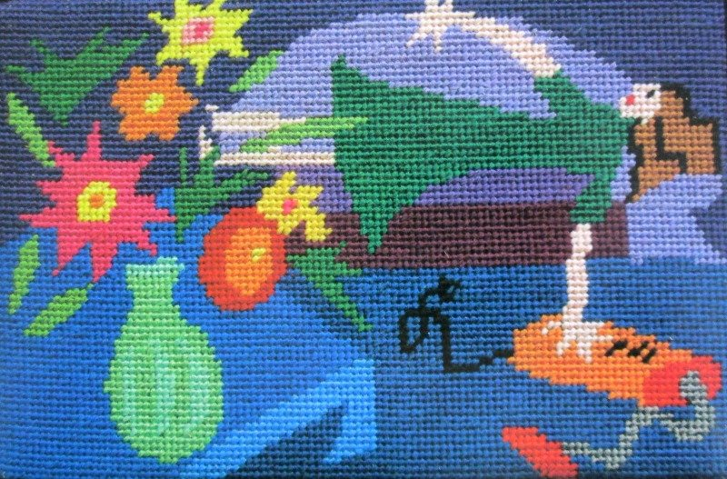 Jennifer Pudney Needlepoint<BR>Immaculate Housewife