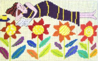 Jennifer Pudney Needlepoint Kit Flower Bed