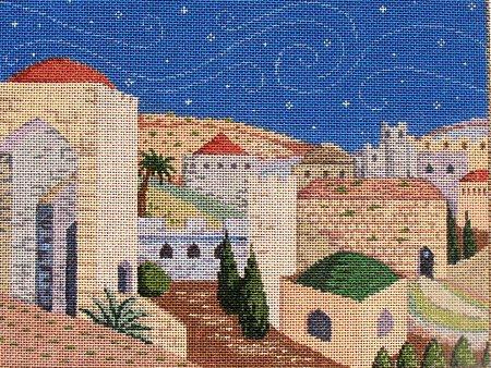 Judaic Needlepoint Jerusalem