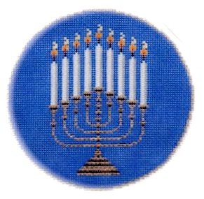 Judaic Needlepoint<BR>Hanukkah Candle