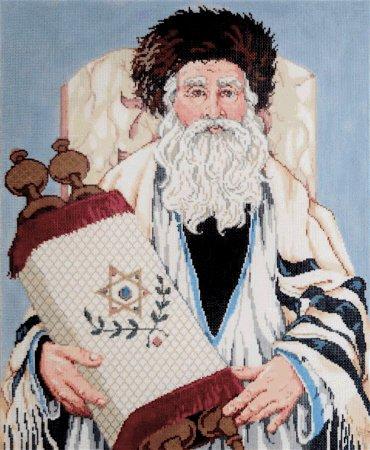 Judaic Needlepoint<BR>The Rabbi