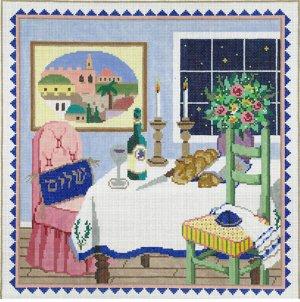 Judaic Needlepoint Shabbat
