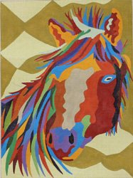 Stallion I - the multicolored horse
