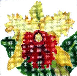 JulieMar Cattleya Orchid golden easy stitch