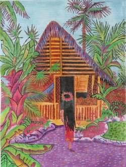 Tropical Island Hut