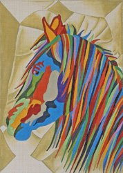 Stallion II - the multicolored horse