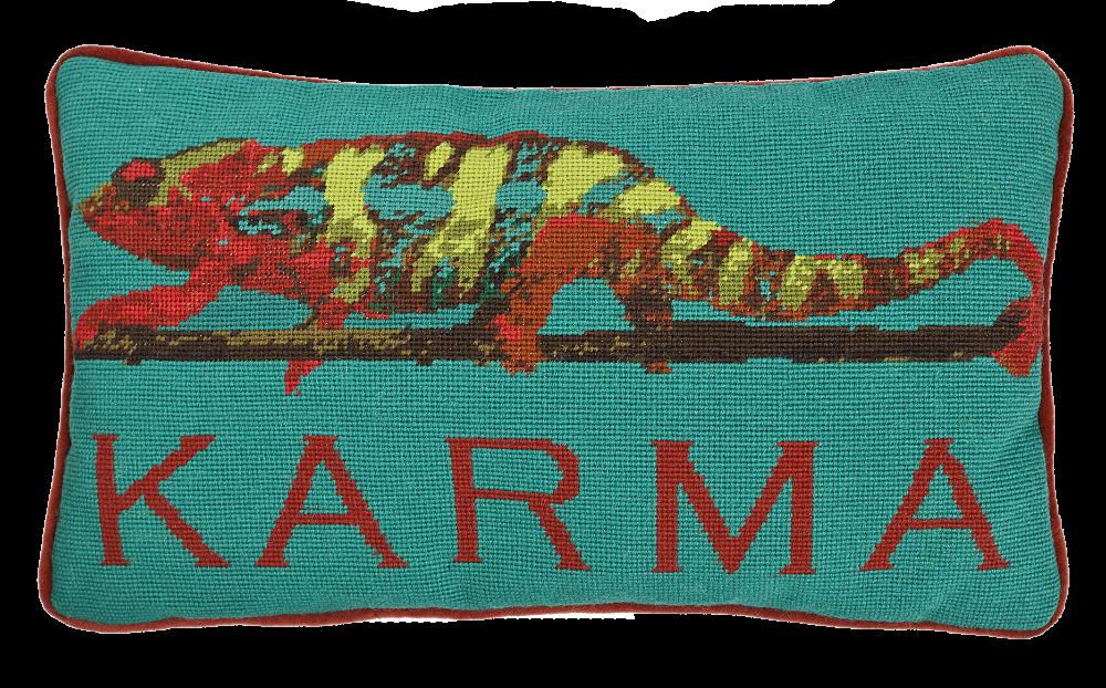Karma Chameleon Needlepoint Pillow Kit