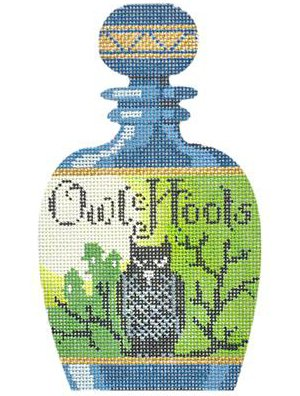 Poison bottle Owl Hoots needlepoint
