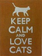 Keep Calm & Love Cats (Orange)