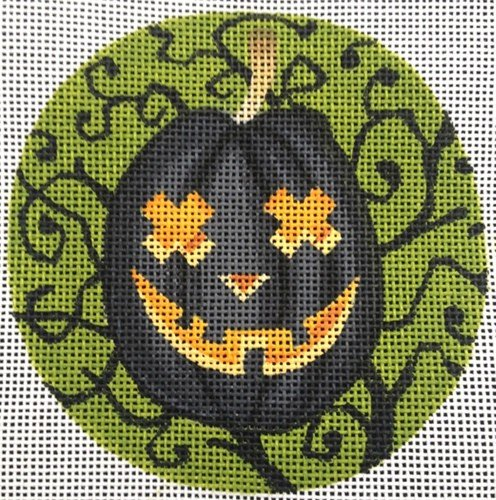 Halloween Needlepoint Ornament Buddy O'Lantern