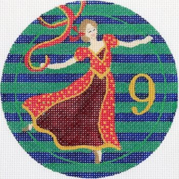 9 Ladies Dancing ornament