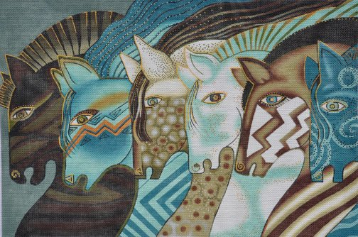 Embracing Horses by Laurel Burch