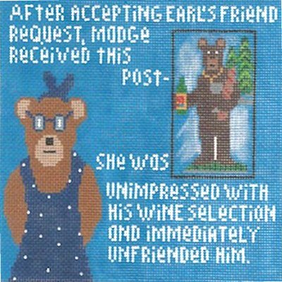 Madge Series Needlepoint - Earl's Wine
