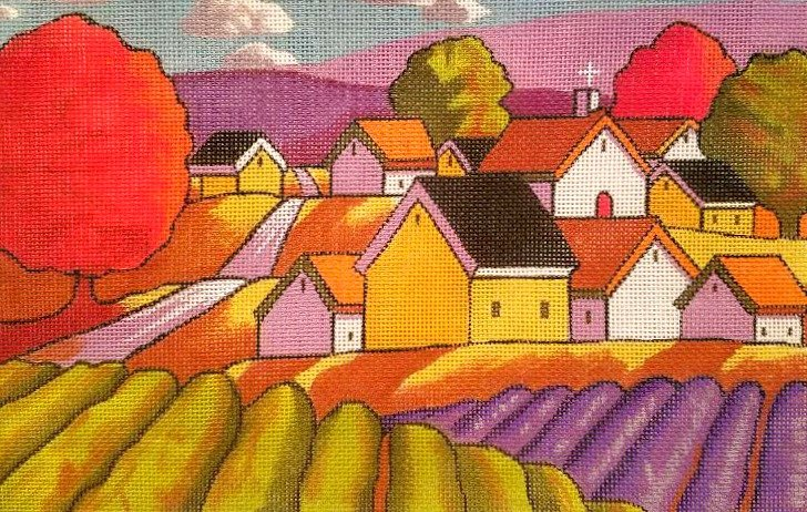 Maggie Needlepoint<BR>Lavender Fields