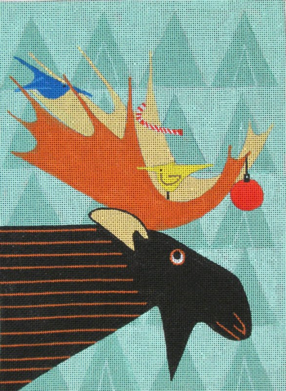 Maggie Needlepoint<BR>Moose
