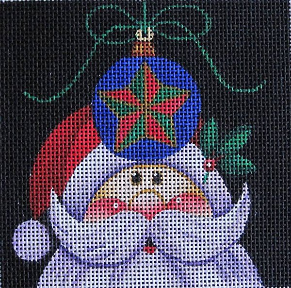 Maggie Needlepoint Santa Ornament 1
