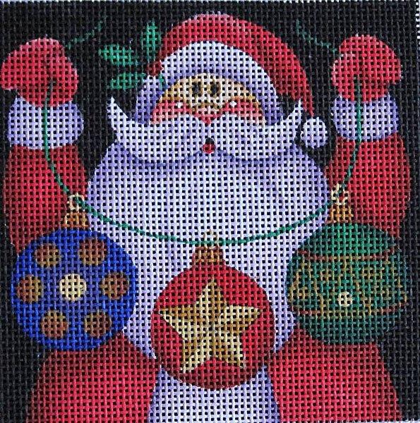 Maggie Needlepoint Santa Ornament 2