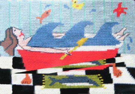 Jennifer Pudney Needlepoint Making Waves